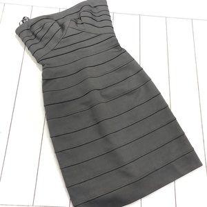 BCBG MaxAzria Aylona Bandage dress in slate gray